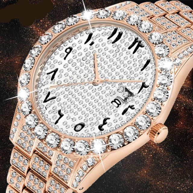 Arabic Numerals Diamond Watch