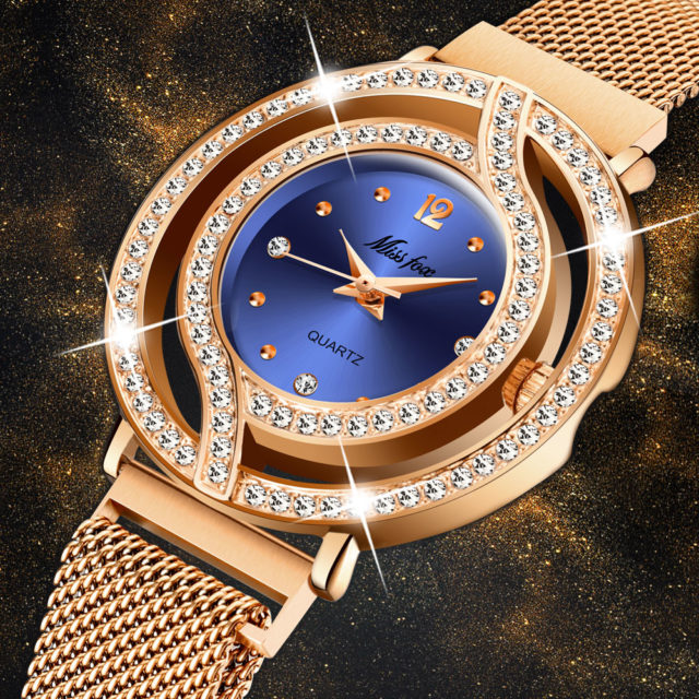 Rose Gold Womens Quartz Watch